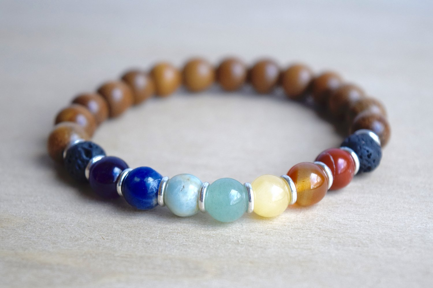 beads feminino lava charm for healing hot balance bracelet bead elephant from yoga reiki endless chakra jewelry bracelets item matte august stone wom in prayer