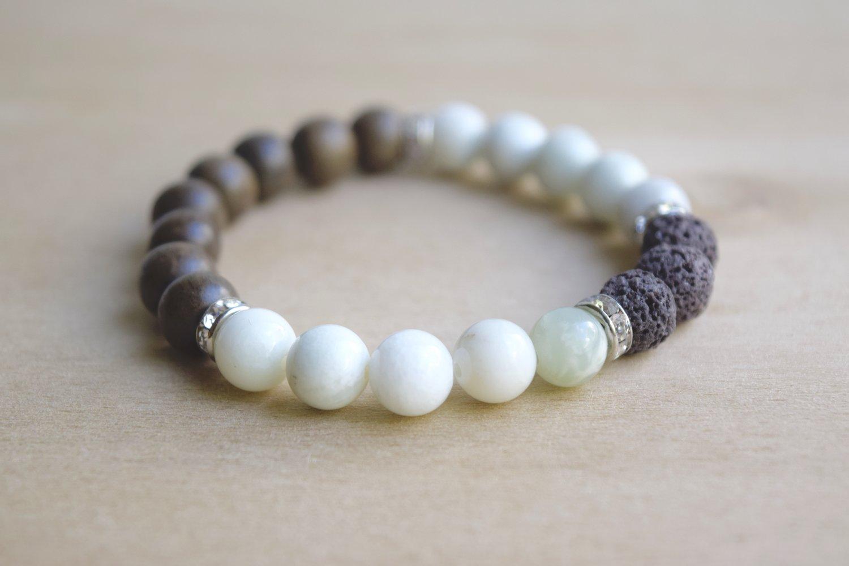 Find Something Different New Jade Gemstone Power Bracelet 24 Beads 8mm ehVIS