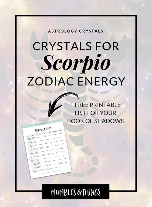 16 Crystals for Scorpio Astrological Energy — Mumbles & Things