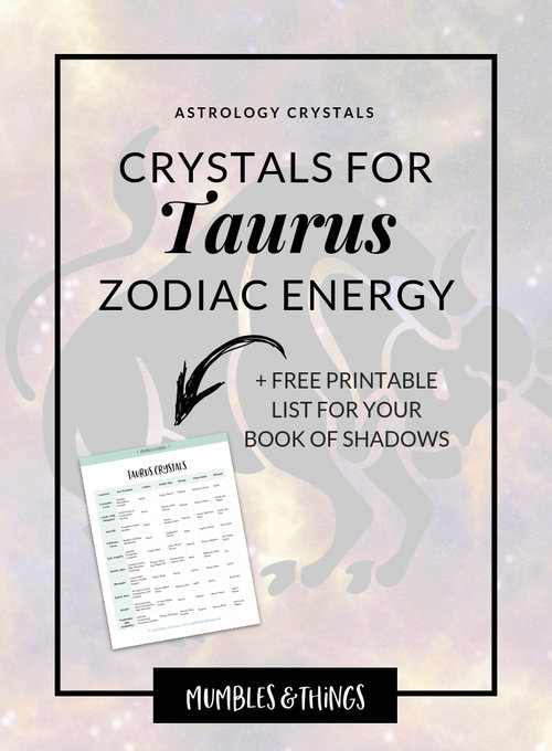 15 Crystals for Taurus Astrological Energy — Mumbles & Things
