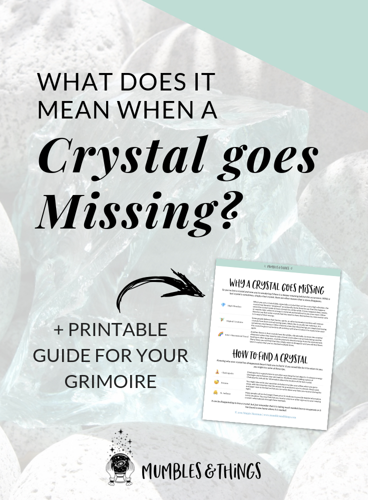 What Does It Mean When A Crystal Is Missing Mumbles Things