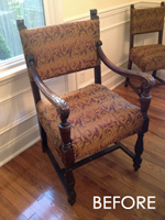 Dining chair upholstery before