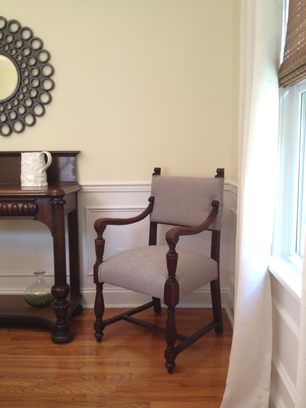 Dining room side chair view