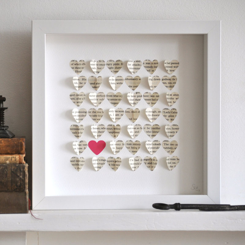 Heart framed art.