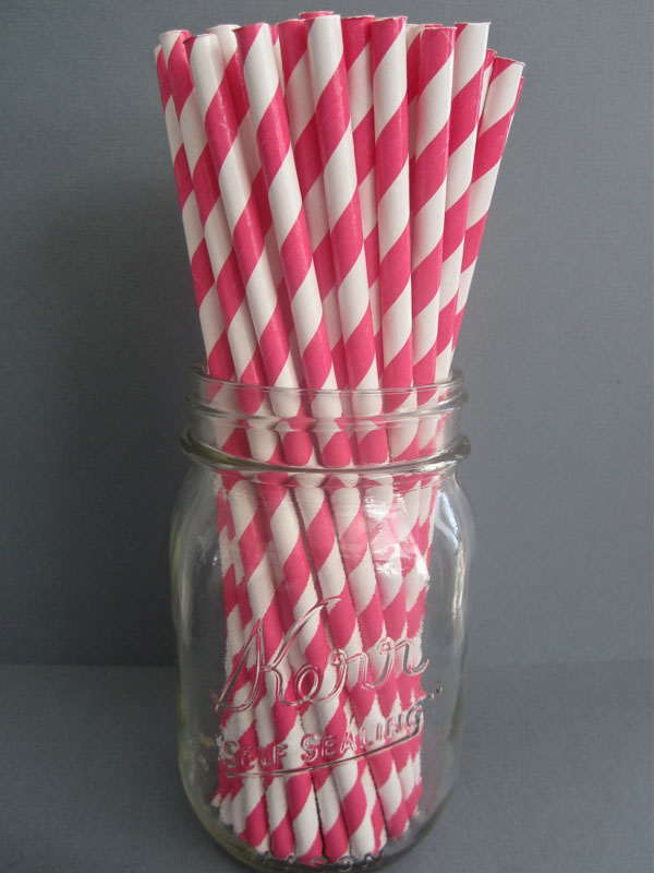 Striped party straws!