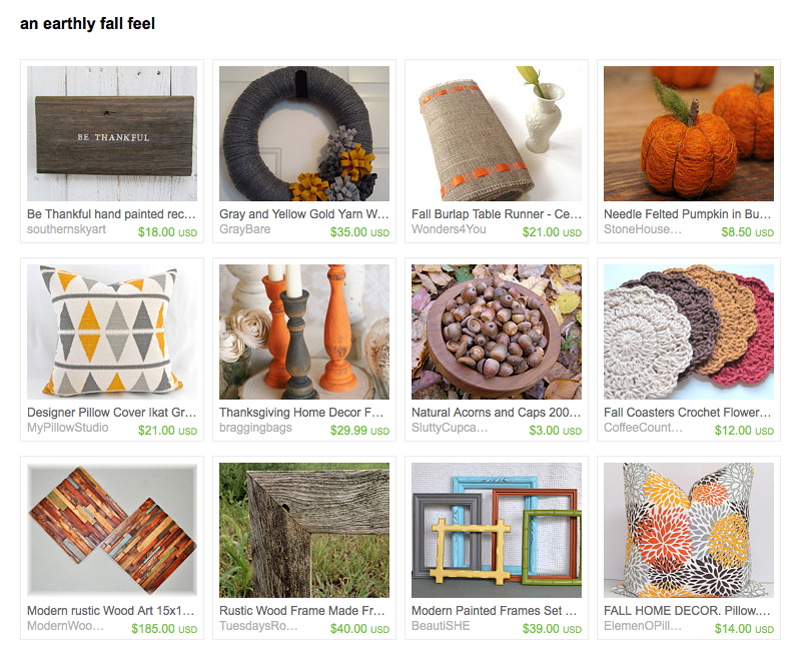Etsy Treasury Snapshot