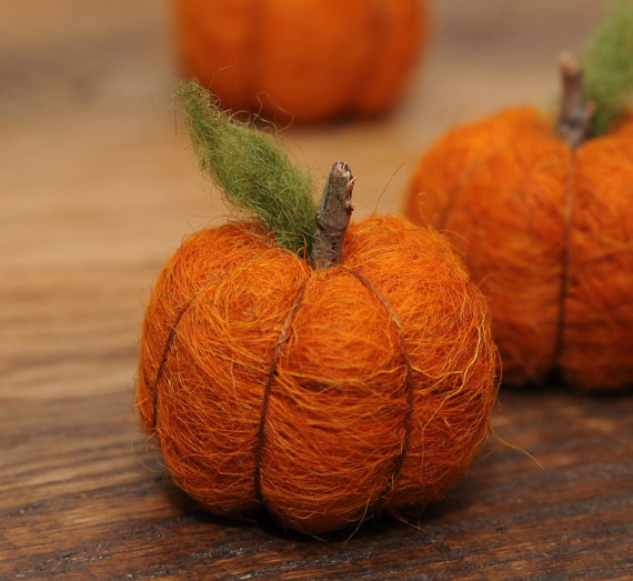 Felt pumpkins.