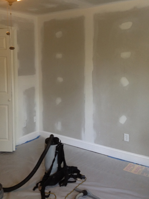 Drywall in the room.