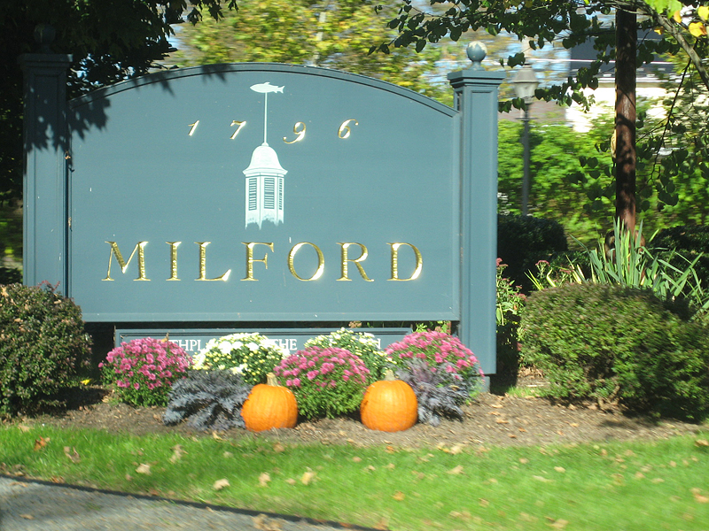 Milford sign.