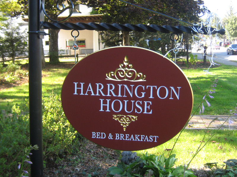 Harrington House sign.