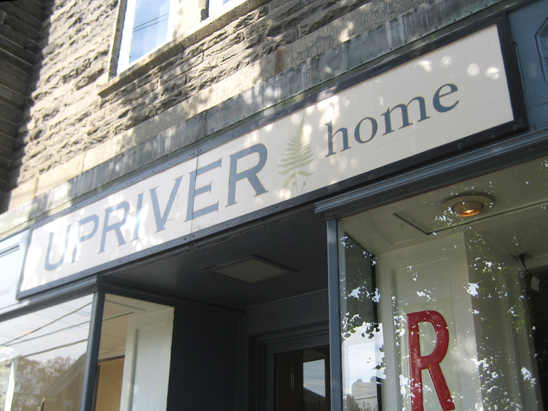 Upriver Home sign.