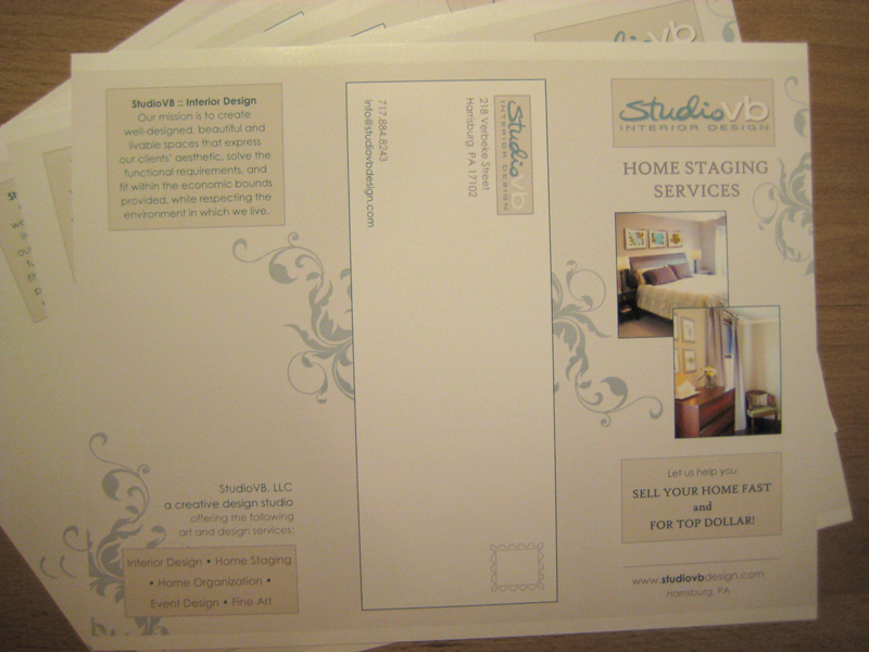 The front side of the brochure - unfolded.