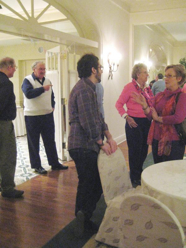 Guests mingling.