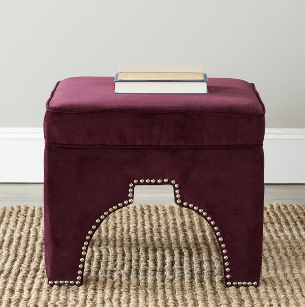 Ottoman with Nailheads
