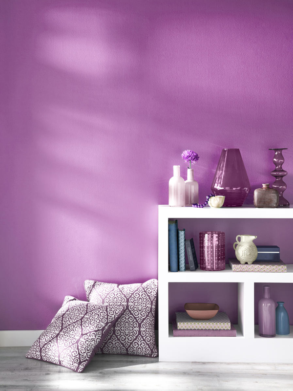 Radiant orchid painted wall.