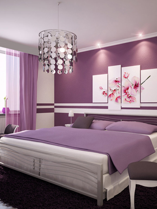 Radiant orchid bedroom.