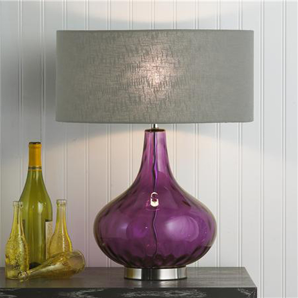 Glass lamp in radiant orchid.