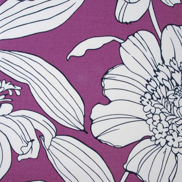 Floral fabric in orchid.