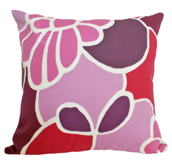 Toss pillow in a variety of orchid colors.
