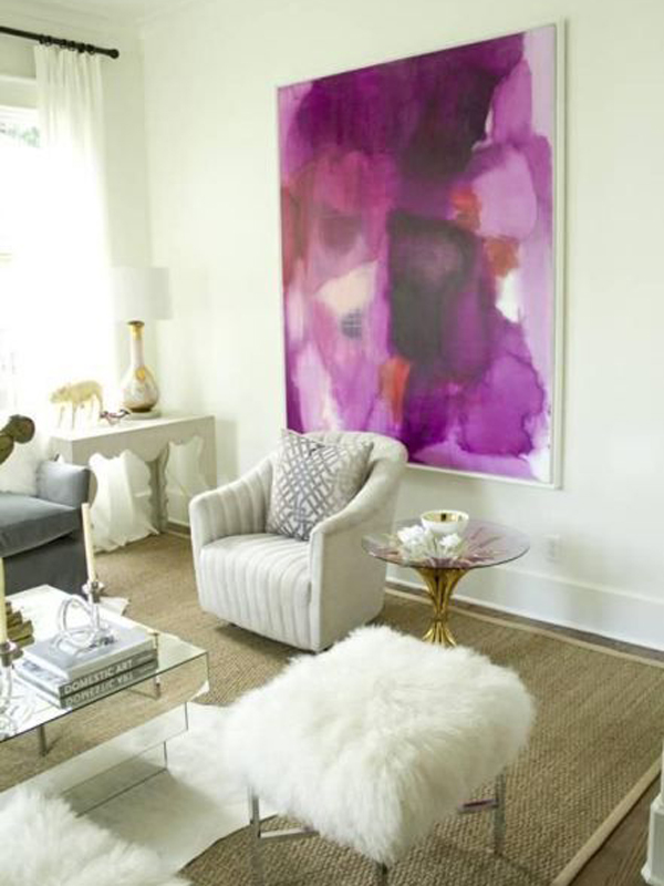 Abstract art in radiant orchid color.