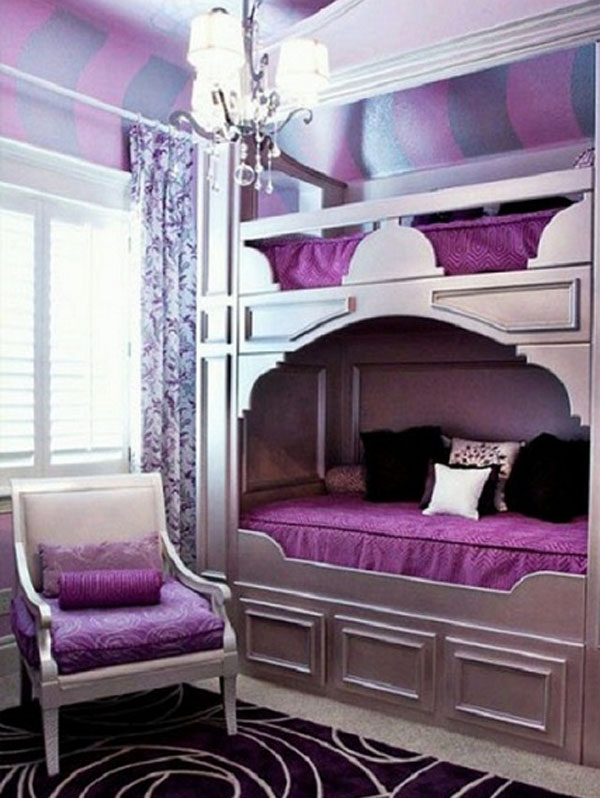 Interior space using radiant orchid color.