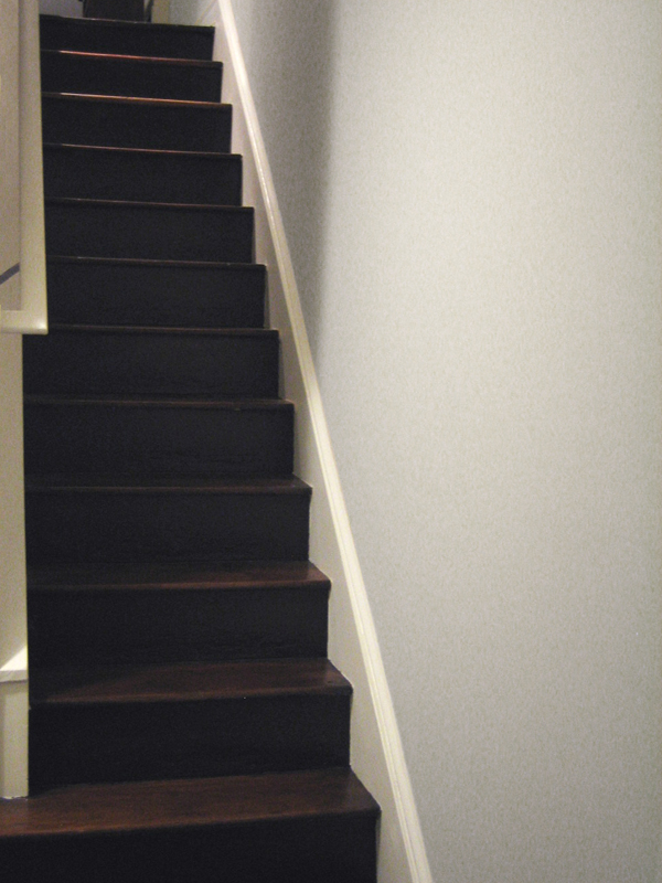 Blank stair wall