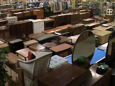 Furniture at Blue Mountain Thrift Store.