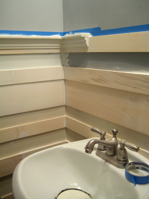 A close up of the top paneling trim.
