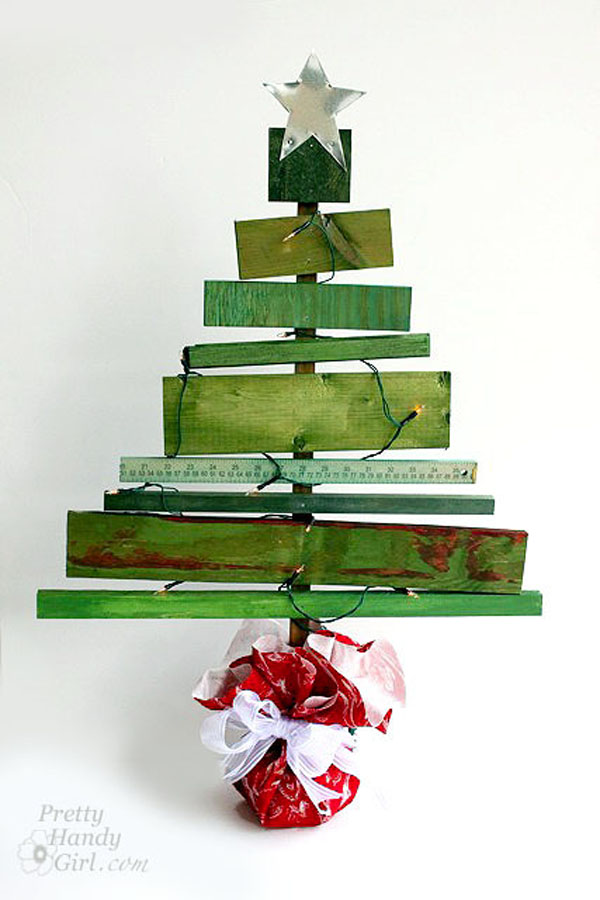 Scrap wood christmas tree.