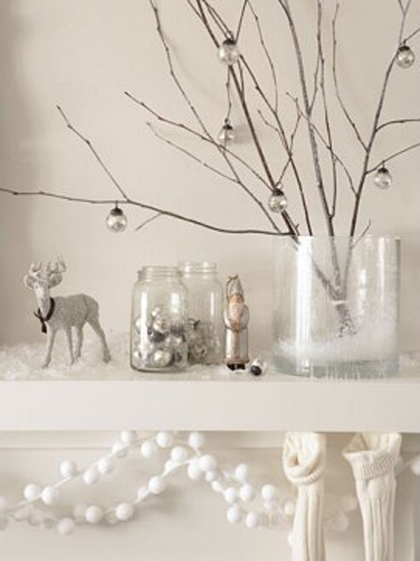 White christmas decor.