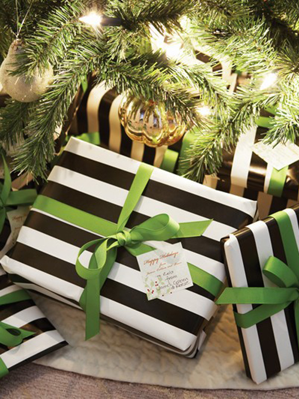 Bold graphic gift wrapping!