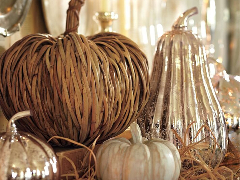 Pottery Barn fall decor.
