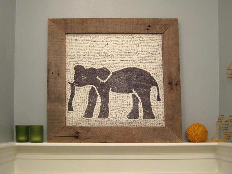 Elephant mosaic.