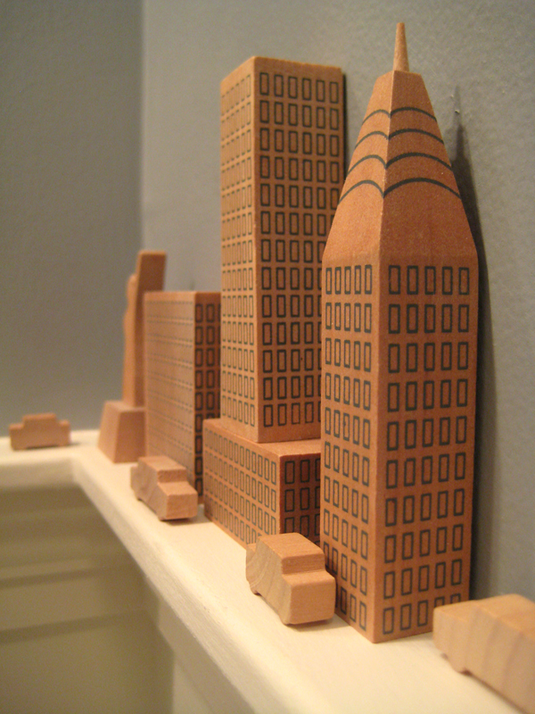 Wooden cityscape.