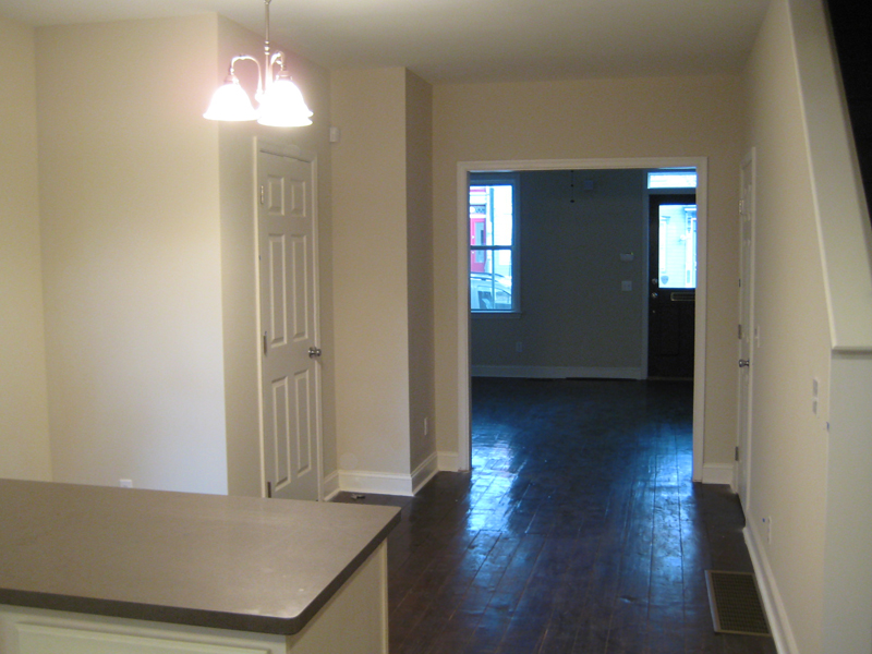 Empty dining room area