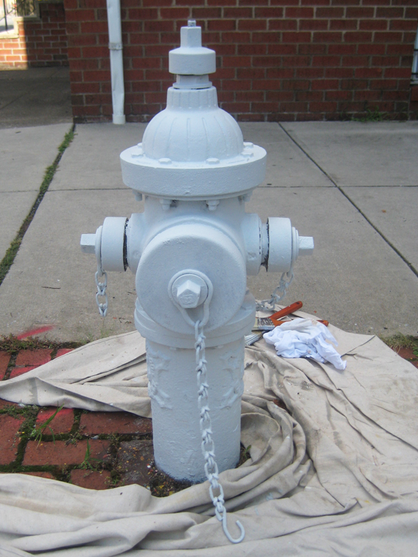 The primed fire hydrant.