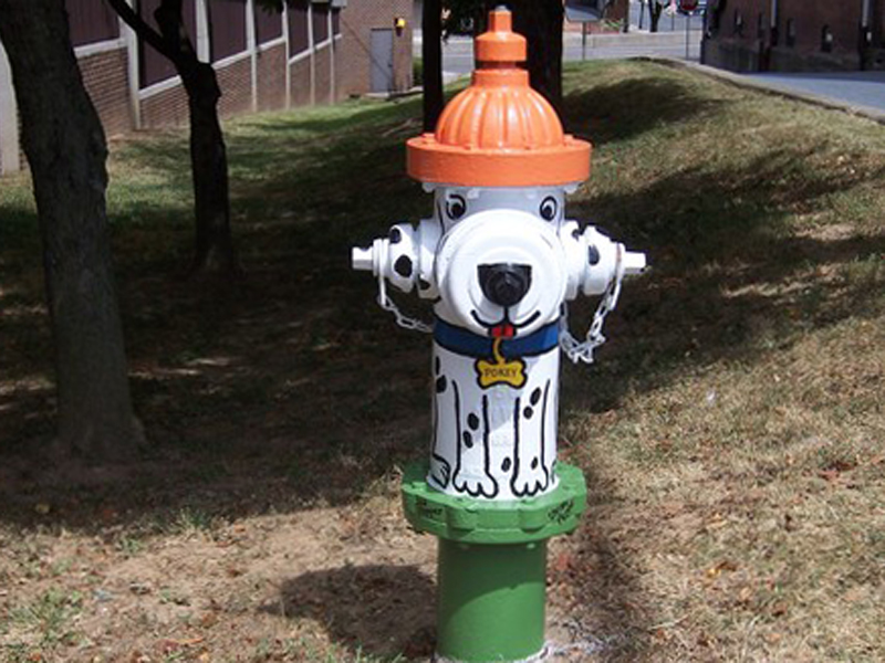 Photo of painted dalmation hydrant