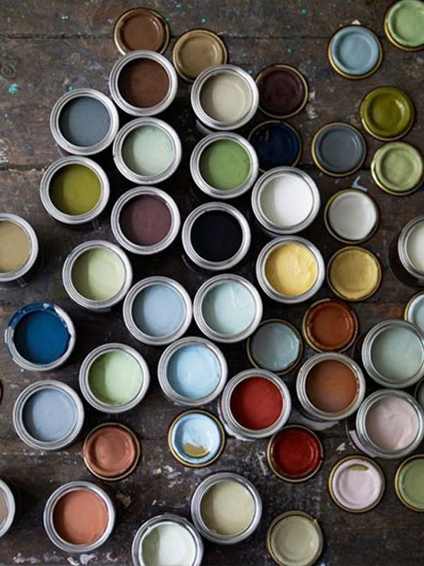 Paint can colors.