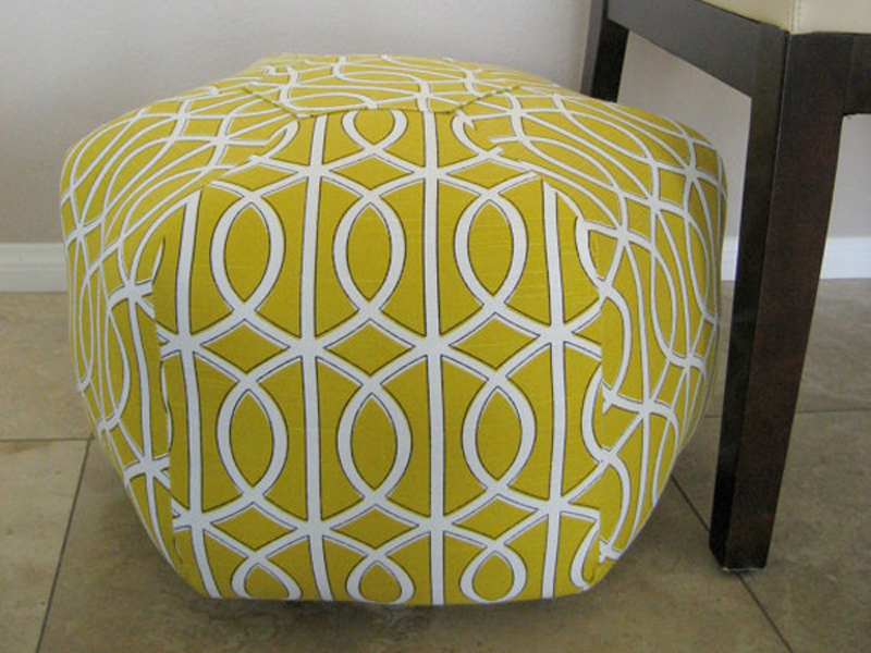 Handmade Pouf from Etsy