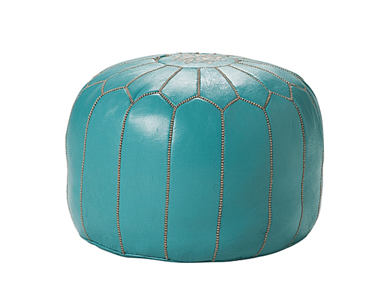 Morrocan Leather Pouf from Serena & Lily