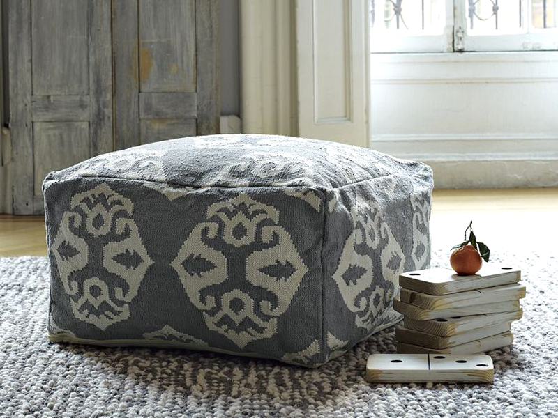Dhurrie Pouf from West Elm