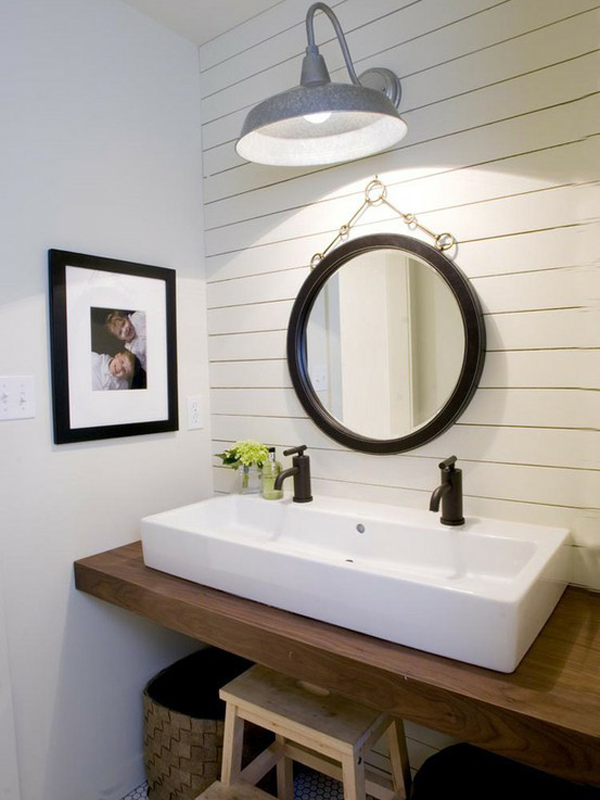 White powder room.