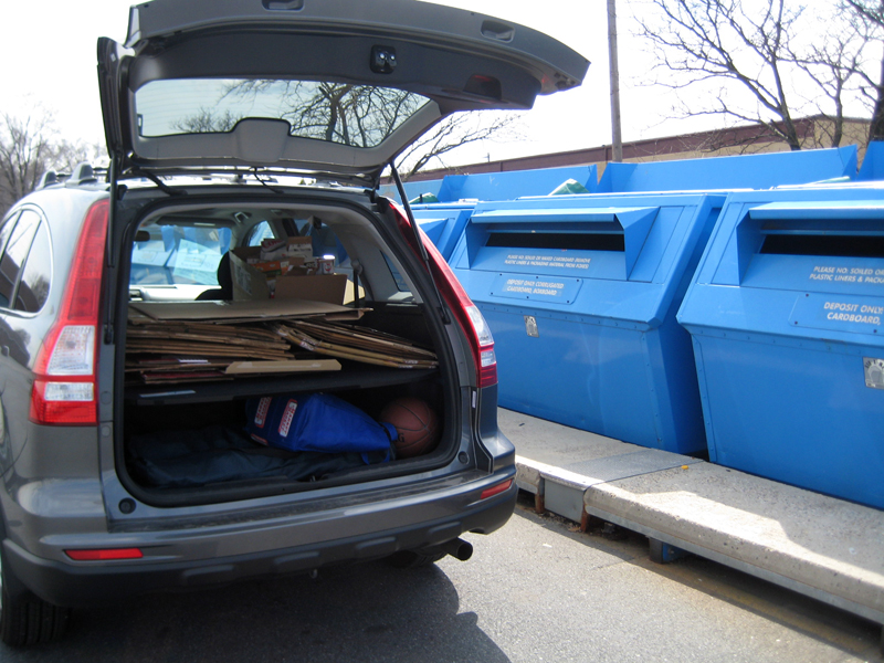 Car at the recycling center