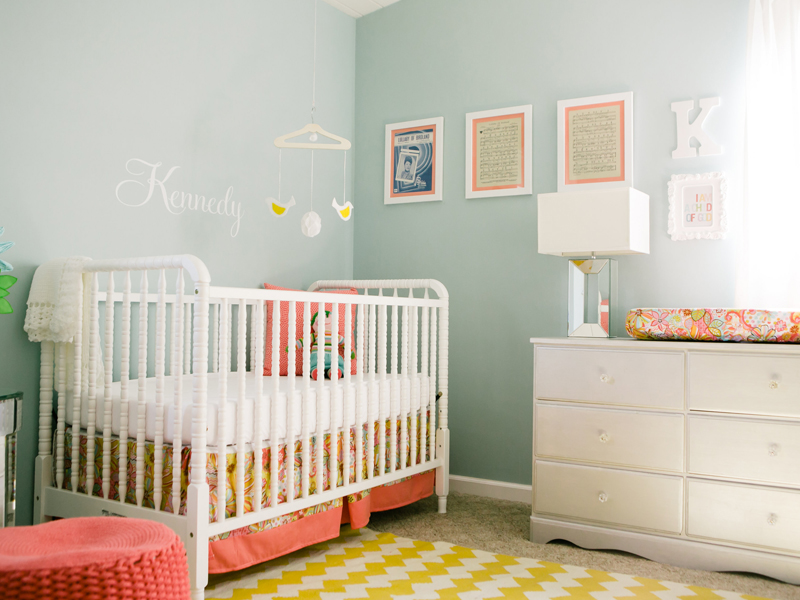 Nursery in Sorbet Colors