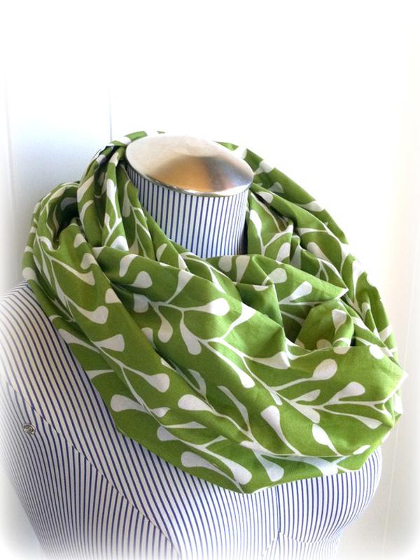Spring green scarf