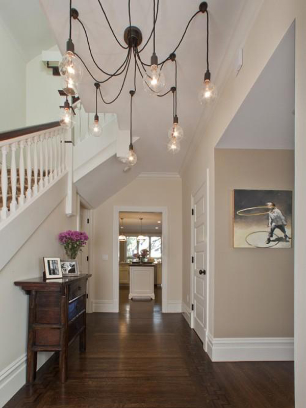 Photo showing the awesome style of an entry light fixture.