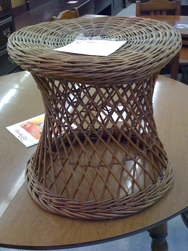 Woven stool.