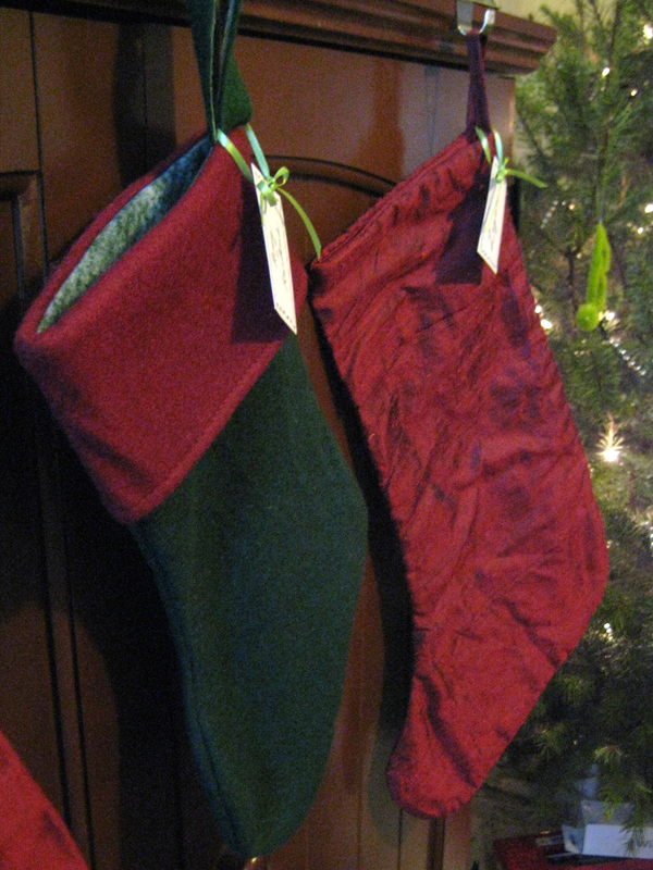 Stockings hanging by the tree