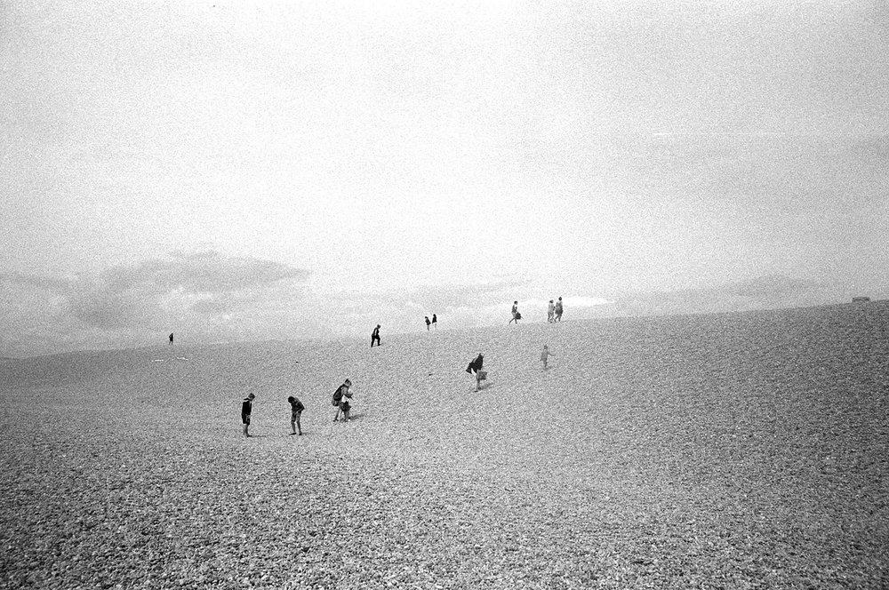 Chesil beach, Portland, Dorset, August 2017.