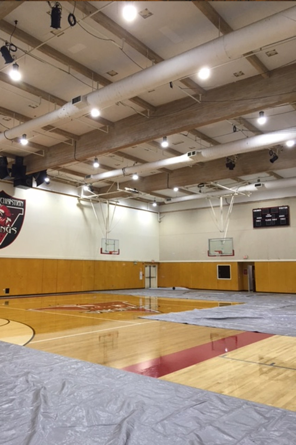 Highschool Gym, CA